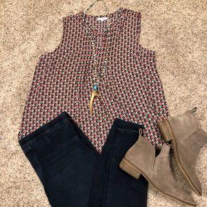NWOT Pleione tank blouse